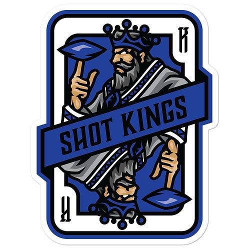 Shot Kings Cornhole Royal Blue Card - Bubble-free stickers