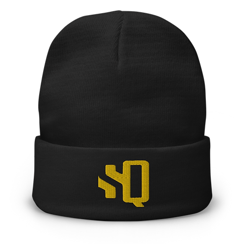 Shot Queens SQ Yellow Thread Embroidered Beanie
