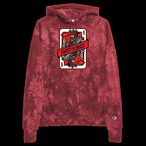 Shot Kings Cornhole Card 2.0 - Unisex Champion tie-dye hoodie