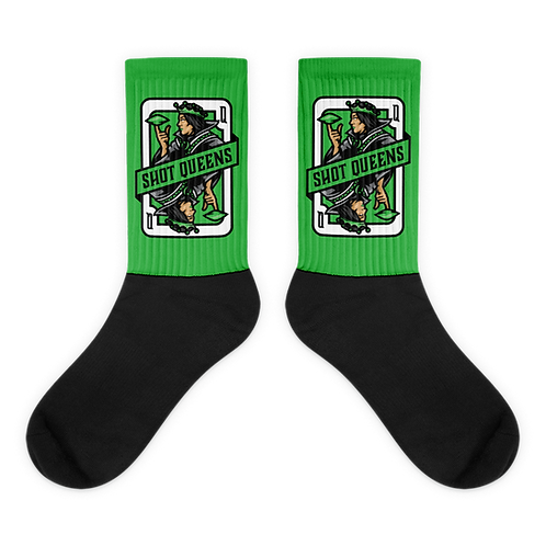 Shot Queens Cornhole Card Green - Socks
