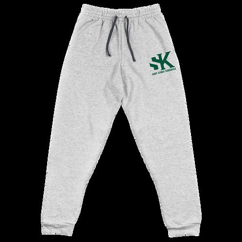 Shot Kings Cornhole Black Men's Unisex Joggers - Green Thread