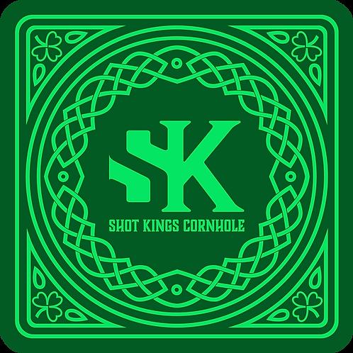 Shot Kings Cornhole Celtic - Dark Green and Neon Green by Reynolds Bags