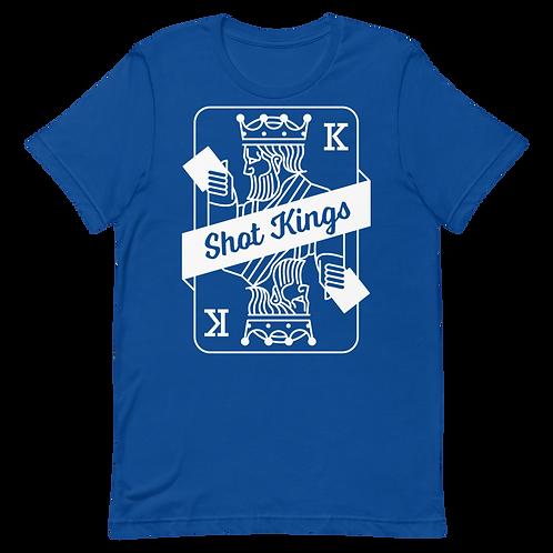 Royal Blue Shot Kings Short-Sleeve Unisex T-Shirt