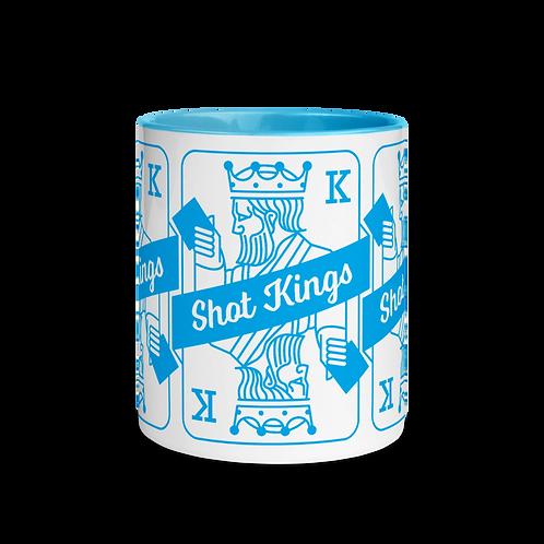 Shot Kings Cornhole Blue - Mug with Color Inside