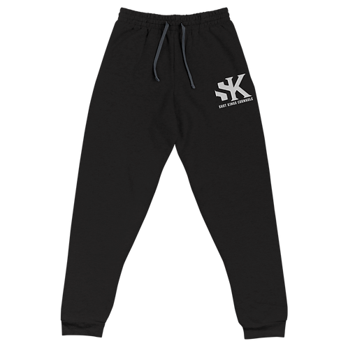 Shot Kings Black and White Unisex Joggers