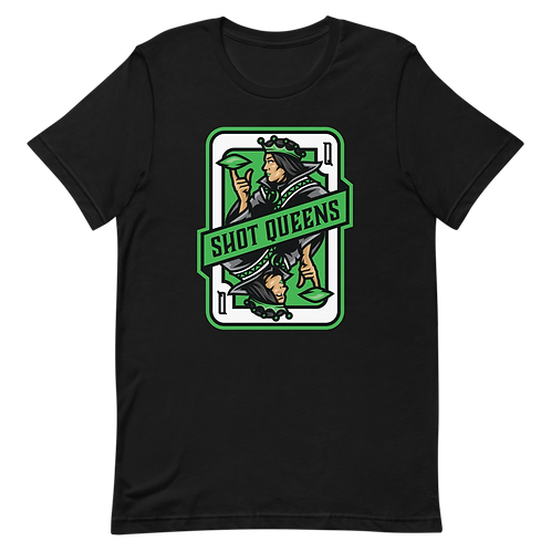 Shot Queens Cornhole 2.0 Green - Short-Sleeve Unisex T-Shirt