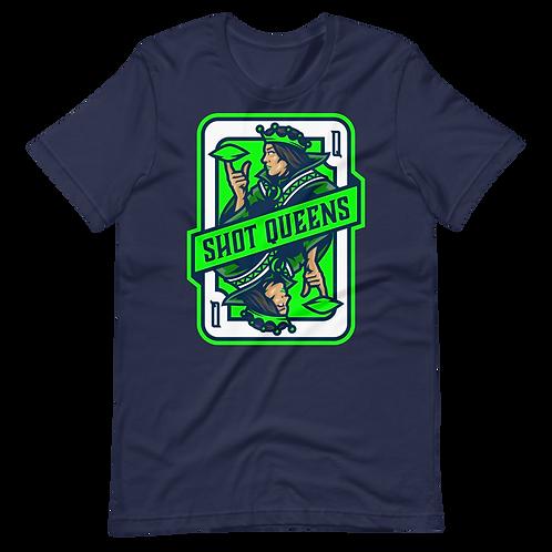 Shot Queens Cornhole Emerald Mist - Short-Sleeve Unisex T-Shirt