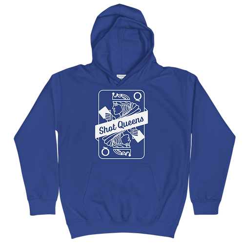 Shot Queens Cornhole Royal Blue - Kids Hoodie