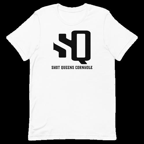 Shot Queens Classic White Short-Sleeve Unisex T-Shirt