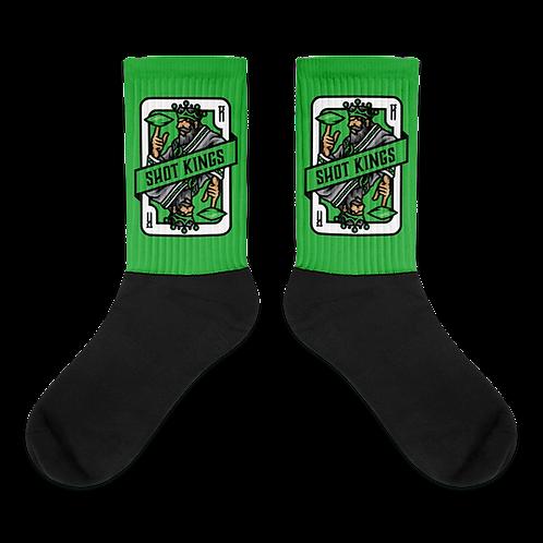 Shot Kings Cornhole Card Green - Socks