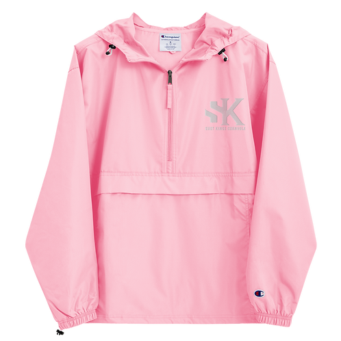 Shot Kings Cornhole White SK Logo - Pink Embroidered Champion Packable Jacket