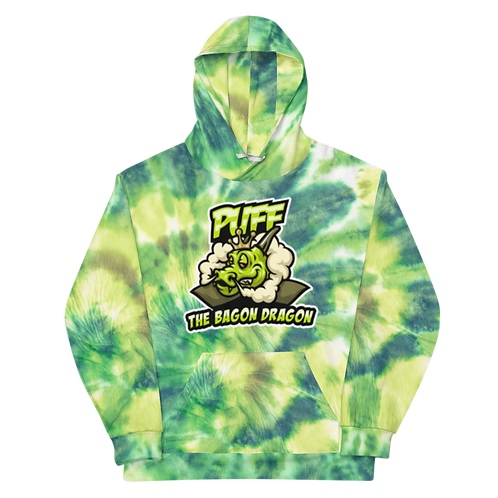 Puff The Bagon Dragon Green Tye Dye - Unisex Hoodie