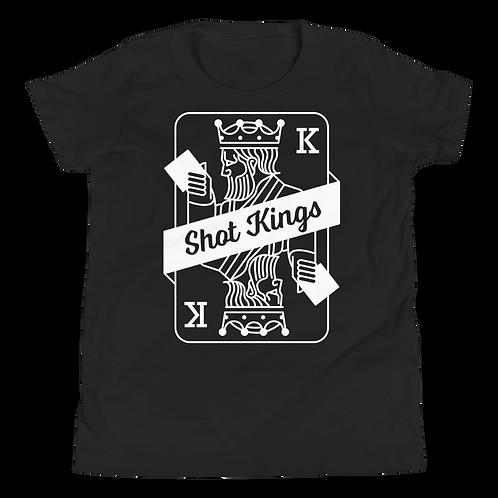 Shot Kings Cornhole Card - Youth Short Sleeve T-Shirt