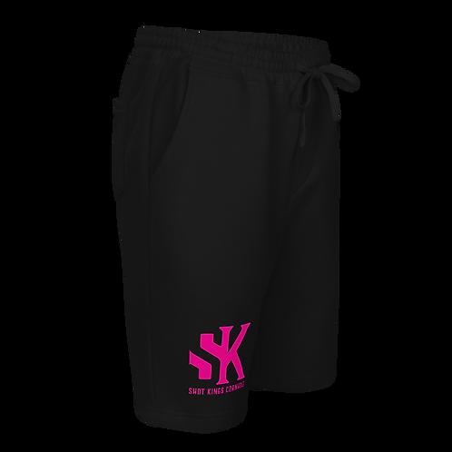 SK Pink and Black Men's fleece shorts