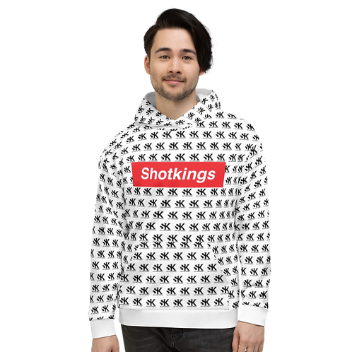 Shot Kings Cornhole Shotpreme - White Unisex Hoodie