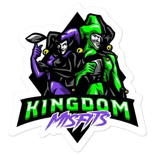 Kingdom Misfit Purple and Green - Bubble-free stickers