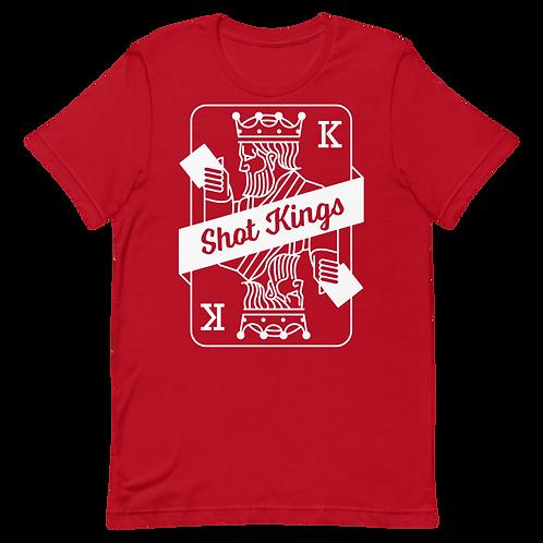 Red Shot Kings Cornhole Short-Sleeve Unisex T-Shirt