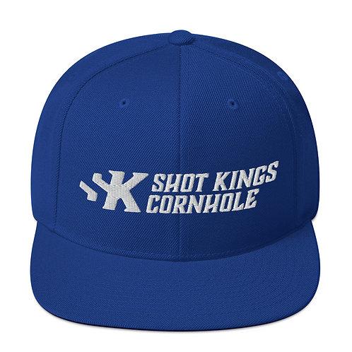Shot Kings Cornhole White Logo - Royal Blue Snapback Hat