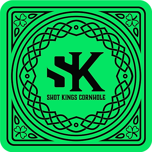 Shot Kings Cornhole Celtic - Black and Neon Green by Reynolds Bags