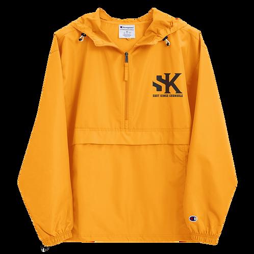 Shot Kings Cornhole Black SK - Gold Embroidered Champion Packable Jacket