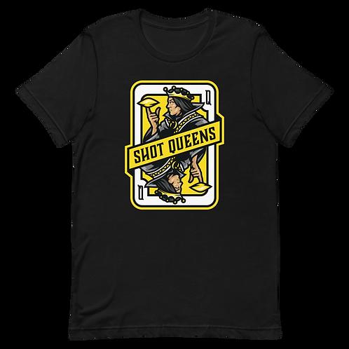 Shot Queens Cornhole 2.0 Yellow - Short-Sleeve Unisex T-Shirt
