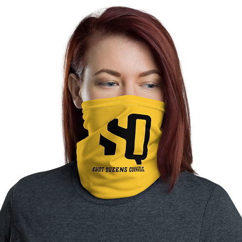 SQ Black Logo on Yellow - Neck Gaiter
