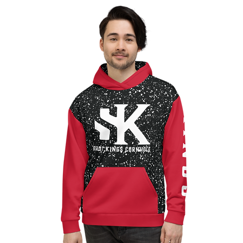 Shot Kings Cornhole Dynasty - Red and Black Unisex Hoodie
