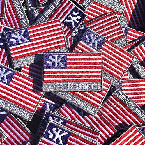 Shot Kings Cornhole USA Flag - Velcro Patch