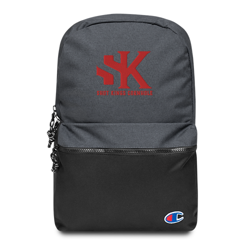 SK Red Logo - Embroidered Champion Backpack