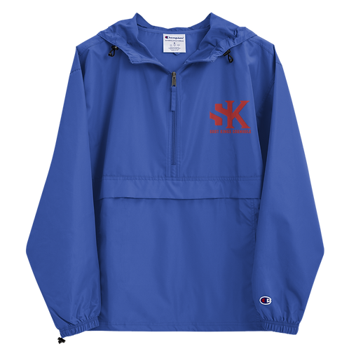 Shot Kings Cornhole Red SK - Royal Blue Embroidered Champion Packable Jacket