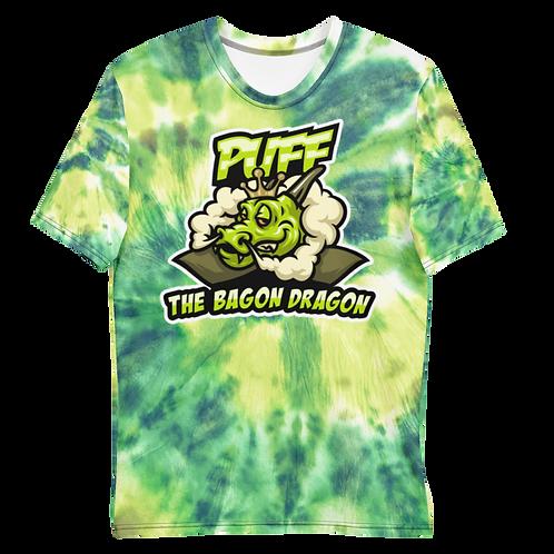 Puff The Bagon Dragon Green Tye Dye - Men's T-shirt