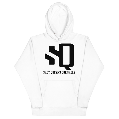 Shot Queens Classic White and Black  Unisex Hoodie