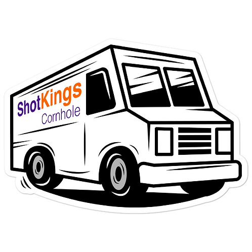 Shot Kings Cornhole Delivery - Bubble-free stickers