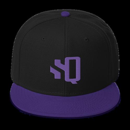 SQ Purple Logo Purple Brim - Snapback Hat