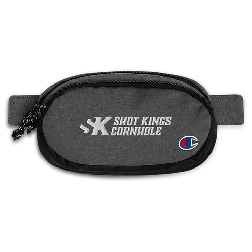 Shot Kings Cornhole White Logo - Champion fanny pack