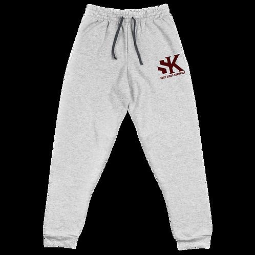 Shot Kings Cornhole Black Men's Unisex Joggers - Maroon Thread