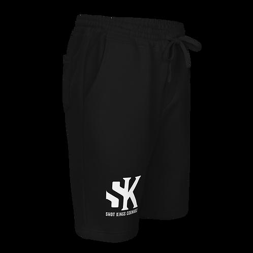 SK White and Black Men's fleece shorts