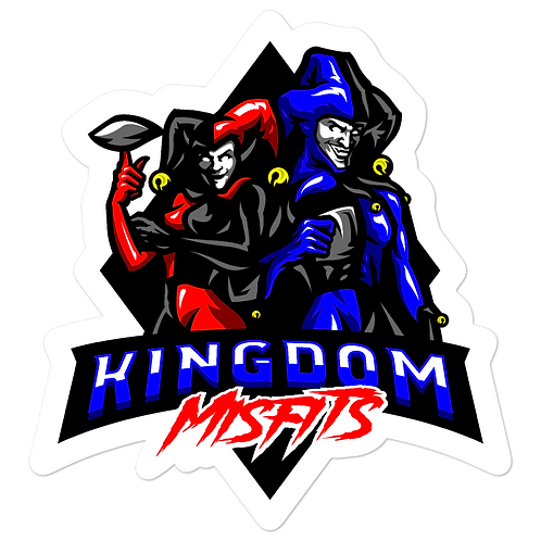 Kingdom Misfit Red and Blue - Bubble-free stickers