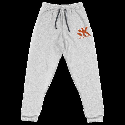 Shot Kings Cornhole Black Men's Unisex Joggers - Orange Thread