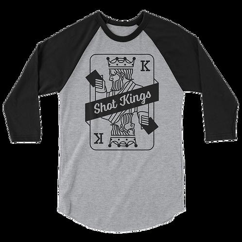 Shot Kings Cornhole Card Black and Grey - Ap3/4 sleeve raglan shirt