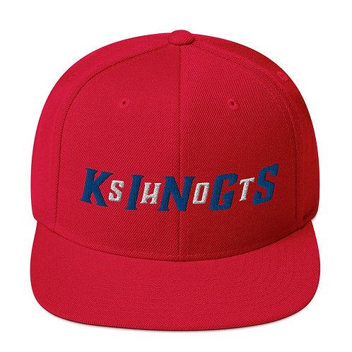 Shot Kings Cornhole Between The Lines - Red Snapback Hat