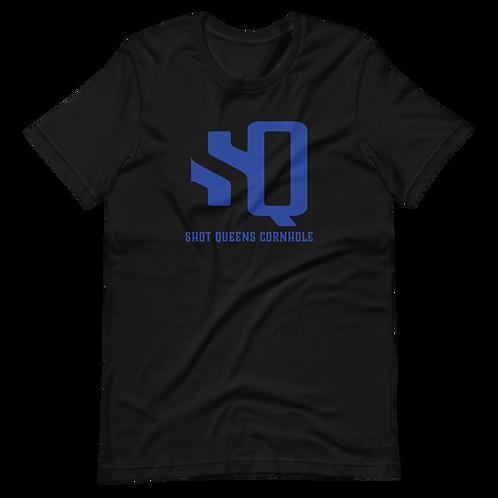SQ LOGO ROYAL BLUE - Short-Sleeve Unisex T-Shirt