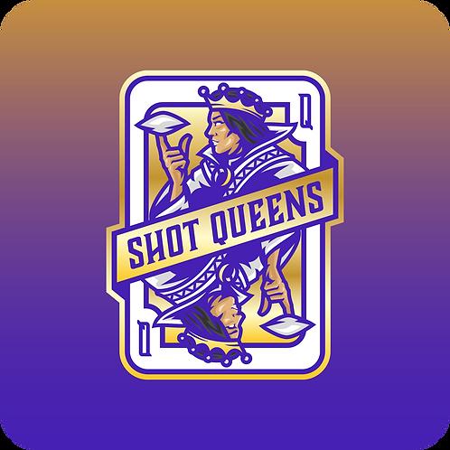 Shot Queens Cornhole Royal Purple - By Reynolds Bags