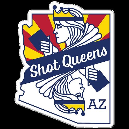 Arizona Shot Queen - Bubble-free stickers