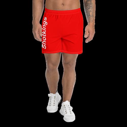 Shot Kings Red Bar - Men's Athletic Long Shorts