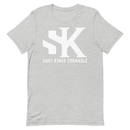 "Gray and White ""SK"" Short-Sleeve Unisex T-Shirt"