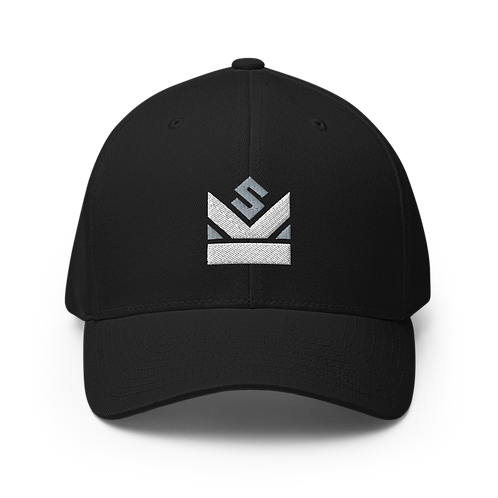 Shot Kings Cornhole Grey and White Crown Logo - Structured Twill Cap