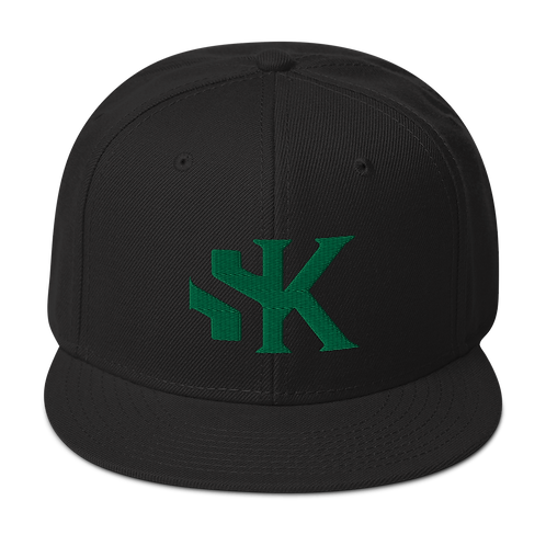 Shot Kings Kelly Green SK Logo - Black Snapback Hat