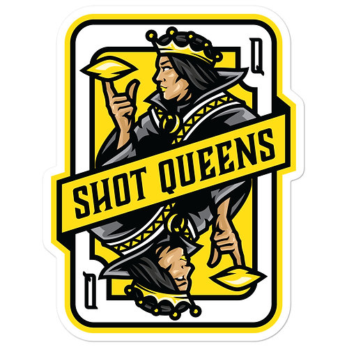 Shot Queens Cornhole Yellow Card - Bubble-free stickers
