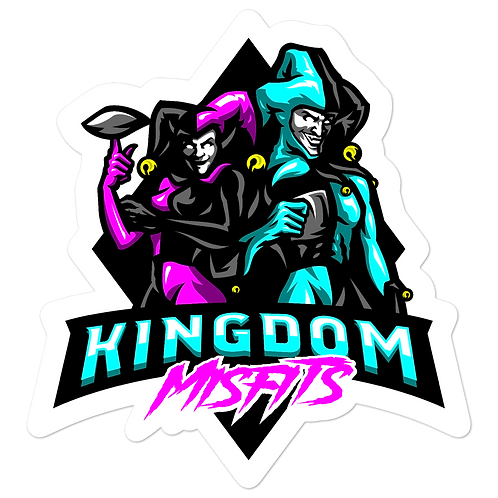 Kingdom Misfit Pink and Teal - Bubble-free stickers